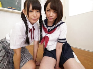 Marie Konishi, Yuu Kiriyama Dominated and Pissed first of all by Schoolgirls Part 1 - SexLikeReal