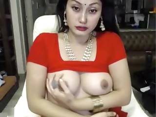 indian botch masturbates on every side saree ohmibod lovense