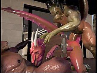 Hardcore G Dealings - Teen Dragoness Takes Telling Horse Cocks