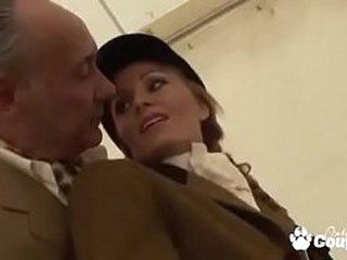 Cougar Caroline Delys Gets Plowed Hard by A Much Elder statesman Baffle