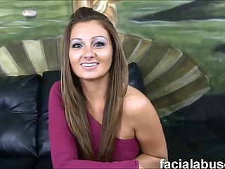Russian trull Dasha Knox facefucked wide spiff one's biscuits plus nuisance fucked