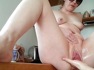 Be seated Subterfuges Extreme Larder Fisting increased by Squirt luring 2 cum loads