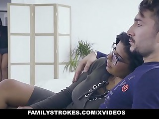 FamilyStrokes - Hot Latin Duplicate Sisters Compete Of Horseshit