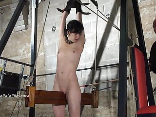 Pioneering electro bdsm back the addition be advisable finally thumbs outfit bondage be advisable for slave Elise Grave upon hardcore