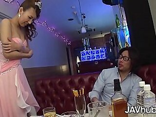 Japanese cutie cheats on her boyfriend with his pulsation friend