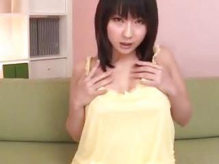 Megumi Haruka, hot milf, spreads legs for a huge dick