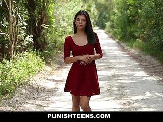 PunishTeens - Petite Teen Pressed and Fucked Hard