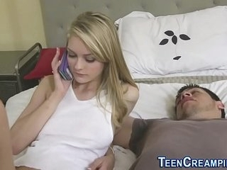 Teen fucked and creampied