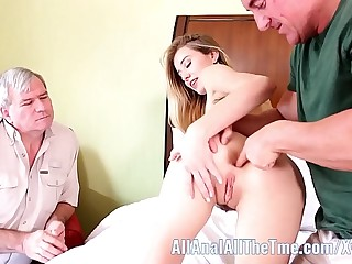 Tall Teen Haley Reed Cuckolds Step Pater With Anal Cumshot!