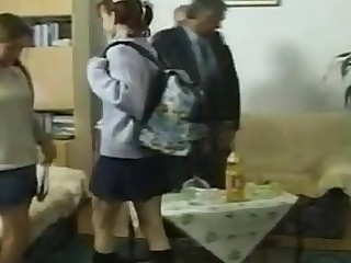 Grandad's Charge from Euro Teen's Anal Rimming