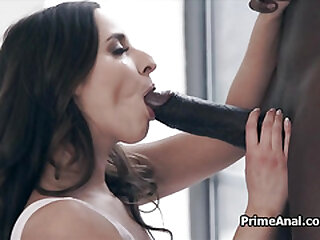 Fine ass licked in foreign lands by big black cocked bf