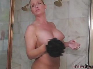 white girl fucked hard while moms showering