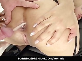 LETSDOEIT - Hot Rough Anal For A Well-endowed Teen Brunette