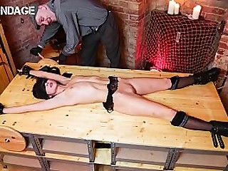 FORBONDAGE - Fetish BDSM Domination And Anal Hook For German Teen Lullu Gun