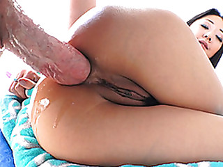 Korean nympho loves a big dick deep inside her miserly asshole