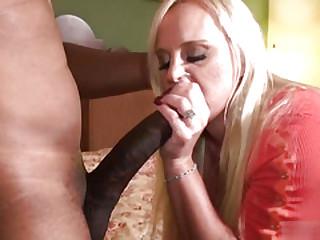 Hard interracial anal sex in beautiful blonde mature