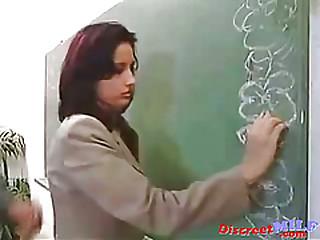 Hot teacher get fucked hard in classroom
