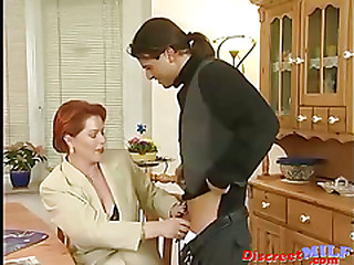 German Superannuated MILF Gets Warm Facial Load