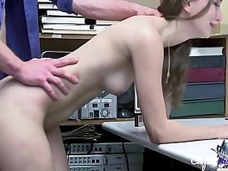 Teen fucks OFFICER