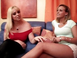 Experienced blonde lea  Cameron Keys has an alternation of confidence with young and juicy babe Shay Bennett